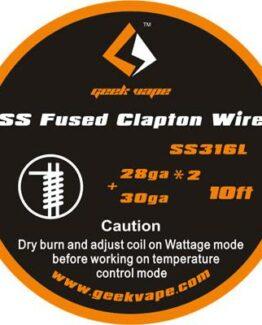 GeekVape-SS-fused-clapton-wire-SS316L traat iseehitajale