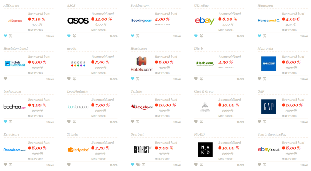 Thousands of popular e-shops at your disposal!