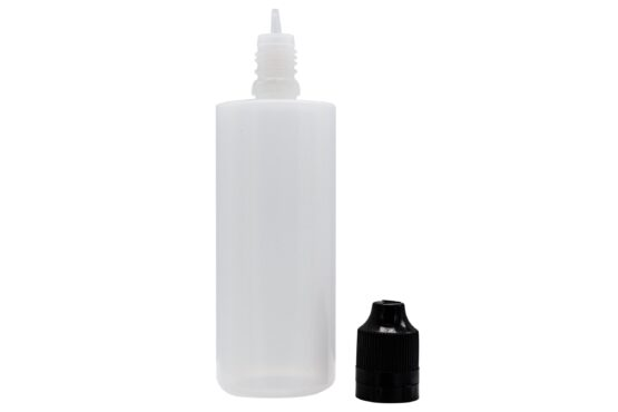 Pudel PE 100ml flat top